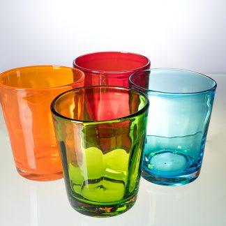 bunte Trinkgläser der Serie BEI in 10 Farben